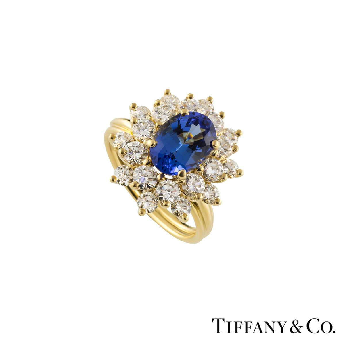 Tiffany & Co. Yellow Gold Tourmaline and Diamond Ring